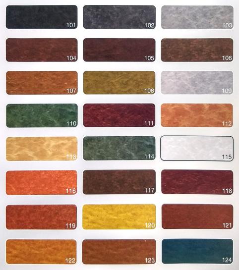 Carta colores por hormigón impreso
