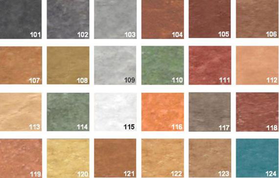 Gama colores para el hormigón pulido