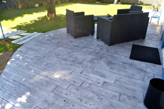 terraza de hormigón impreso