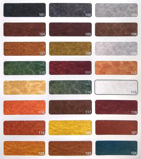 Colores pavimento impreso en Valladolid