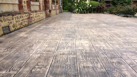 Pavimento impreso Ciudad Real Madera