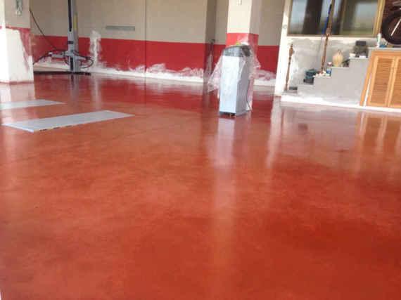 cemento pulido rojo