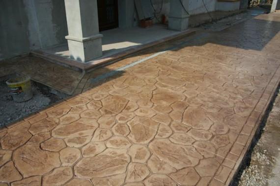 moldes por cemento impreso