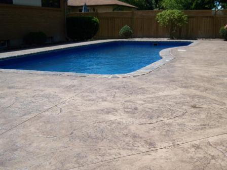 Fases de la instalación de hormigón Impreso para piscina