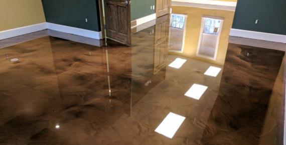 pavimento de resina en casa