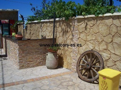 paviconj - muros en hormigon impreso vertical