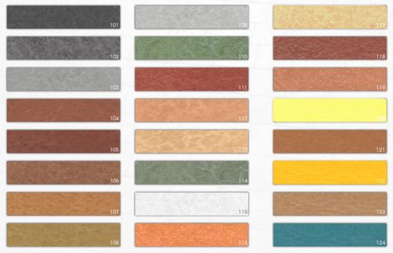 carta colores del hormigon impreso
