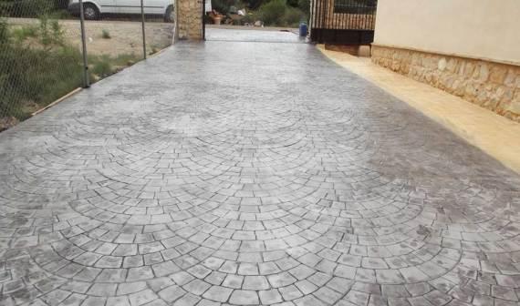 pavimento Hormigón impreso lleida