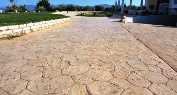 pavimentos de  Hormigón impreso en Vizcaya