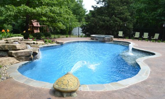 pavimento decorativo para piscina